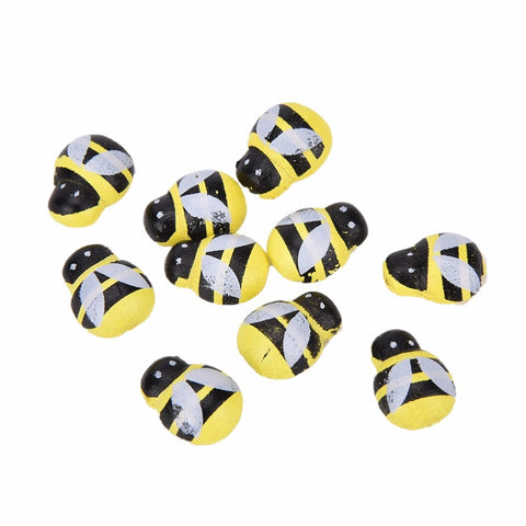 50 Pcs Yellow Wooden
