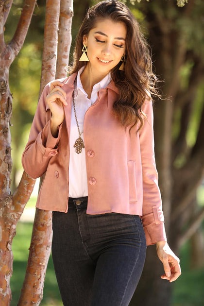 Dusty Rose Nubuck Jacket