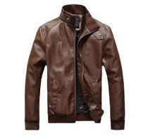 Load image into Gallery viewer, Leather Jacket Hot Men motorcycle clothing