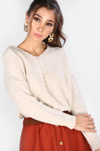 Women's  Back Stone Tricot Sweater