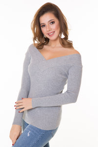 Women's Grey Boat Tricot Sweater