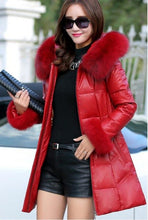 Load image into Gallery viewer, Leather Jacket Women Clothing