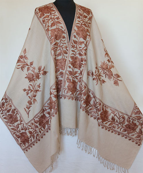Light beige shawl perfect for Fall