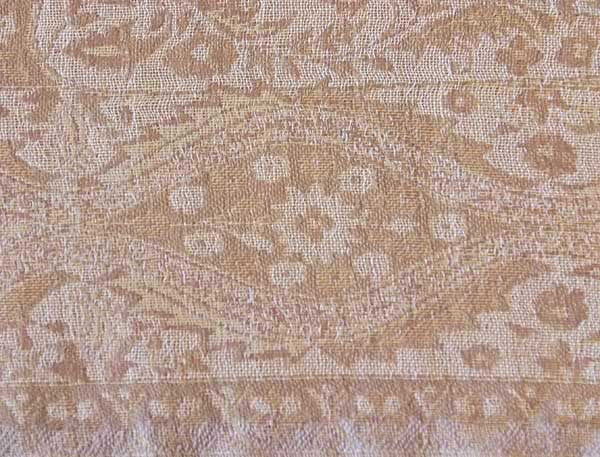 detail photo of gold shawl
