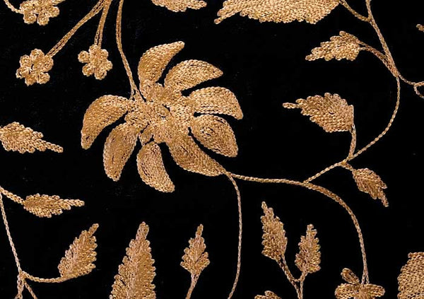 Bronze Embroidered Shawl