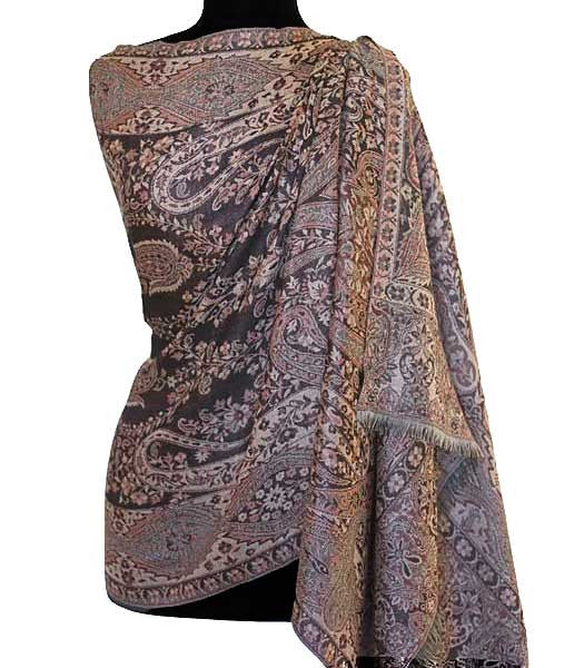 Brown shawl from India.
