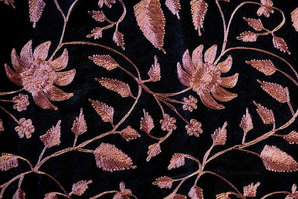 Dark Rose Embroidered Shawl