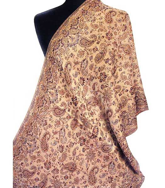 Gold shawl or scarf