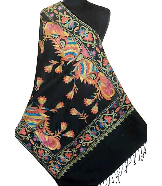36a994add Indian Embroidered Colorful Wrap | Heritage Trading - Indian Shawls ...