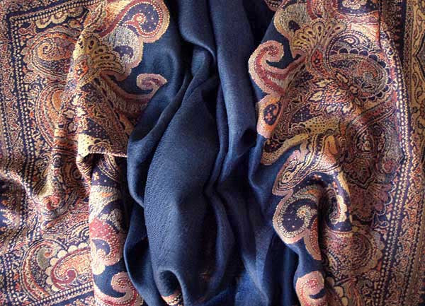 Midnight blue Indian Shawl Wrap