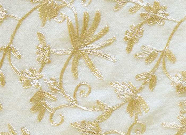 Ivory Embroidered Shawl