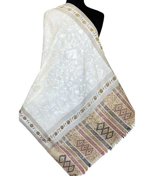 Ivory Embroidered Wrap