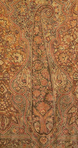 Paisley detail on Indian shawl, from Heritage Trading Company