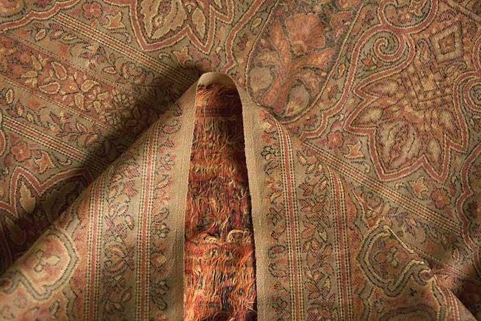 Reverse side of Kani Jamawar Shawl, from Heritage Trading Company