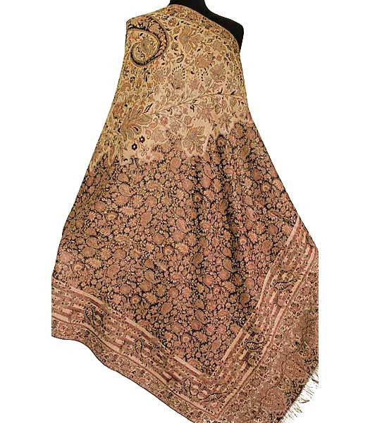 Jacquard woven shawl from India