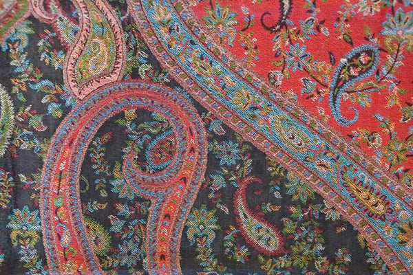 Paisley Red Wool Shawl, from Heritage Trading Company
