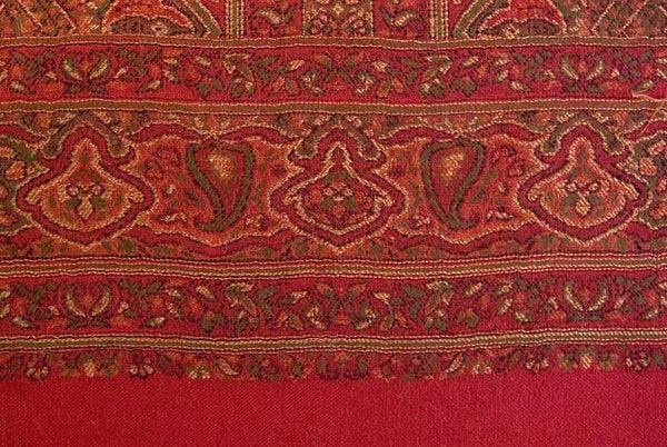 Red shawl from India, Heritage Trading Company