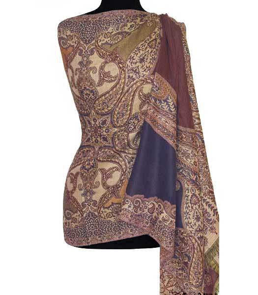 navy jamawar shawl from India