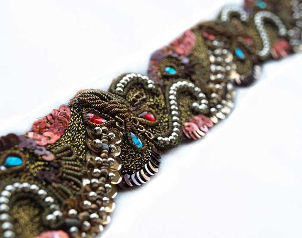 bullion hand beaded sewing trim