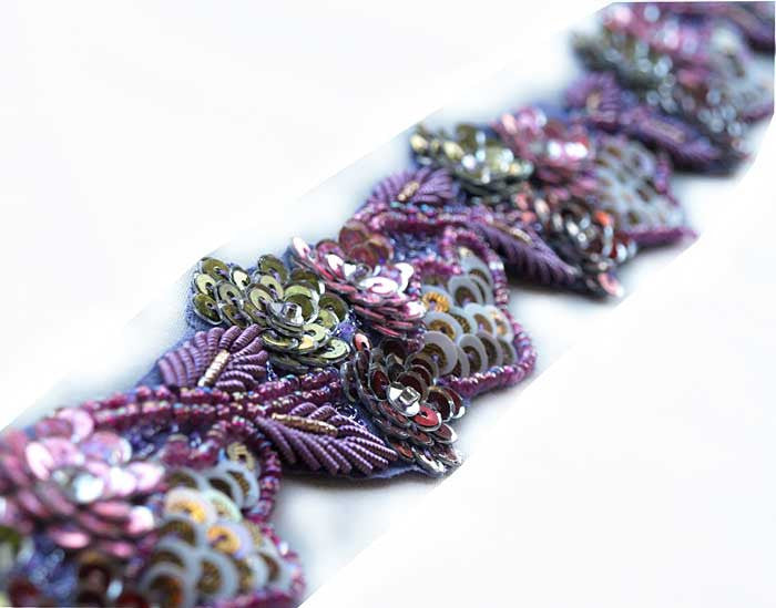 Indian sewing trim in lavender