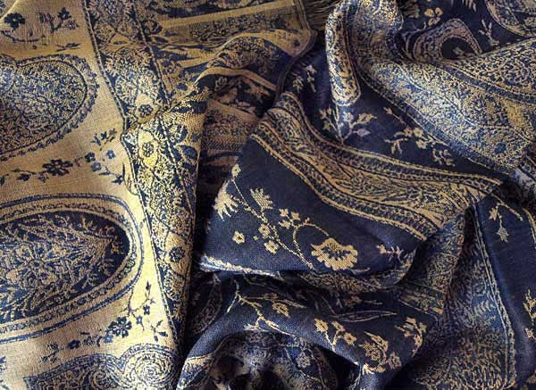 Jamawar Paisley Scarf from India