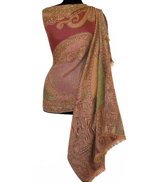 red scarf shawl wrap from India