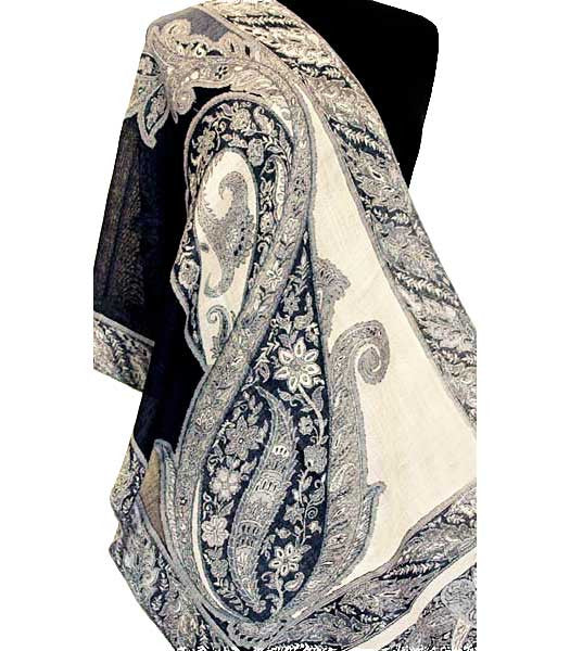 Winter White Jamavar Scarf