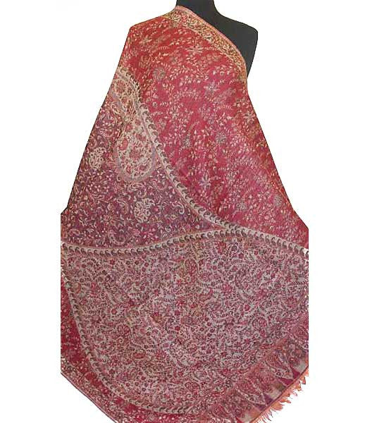 Large Red Shawl