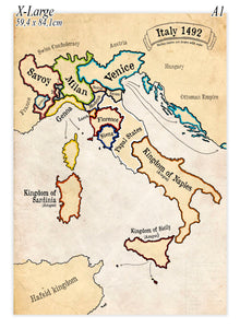 Extra Large size poster of Italy in the year 1492