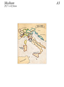 Medium sized poster of Italy in 1492