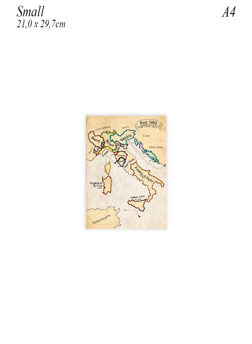 Small poster of Italy in 1492