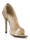 Women'S Sexy Sequin Party High Heels Ca03020-Gold 6