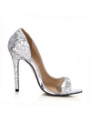 Women'S Sexy Sequin Party High Heels Ca03020-Silver 5