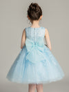 Tulle Knee Length Folower Girl Dresses Cg03388-Blue 2
