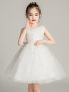 Tulle Knee Length Folower Girl Dresses Cg03388-White 2