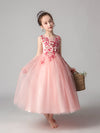 Tulle Floor Length Folower Girl Dresses Cg03395-Pink 2