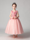 Tulle Floor Length Folower Girl Dresses Cg03395-Pink 1