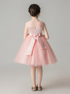 Sweet Applique Tulle Flower Girl Dresses Cg03396-Pink 2