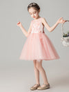 Sweet Applique Tulle Flower Girl Dresses Cg03396-Pink 3