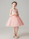 Sweet Applique Tulle Flower Girl Dresses Cg03396-Pink 4