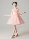 Sweet Applique Tulle Flower Girl Dresses Cg03396-Pink 1