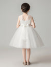 Sweet Applique Tulle Flower Girl Dresses Cg03396-White 2