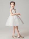 Sweet Applique Tulle Flower Girl Dresses Cg03396-White 3