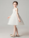 Sweet Applique Tulle Flower Girl Dresses Cg03396-White 4