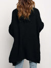 Gorgeous Solid Color Open Front Knitwears With Long Baggy Sleeves-Black 2