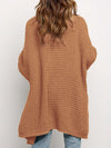 Gorgeous Solid Color Open Front Knitwears With Long Baggy Sleeves-Brown 2