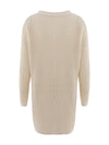 Gorgeous Solid Color Open Front Knitwears With Long Baggy Sleeves-Cream 4