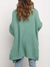 Gorgeous Solid Color Open Front Knitwears With Long Baggy Sleeves-Green 2