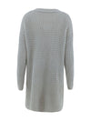Gorgeous Solid Color Open Front Knitwears With Long Baggy Sleeves-Grey 4