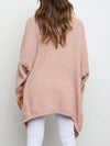 Gorgeous Solid Color Open Front Knitwears With Long Baggy Sleeves-Pink 2